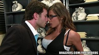 Madison Ivy's perfect ass gets split by her boss's cock